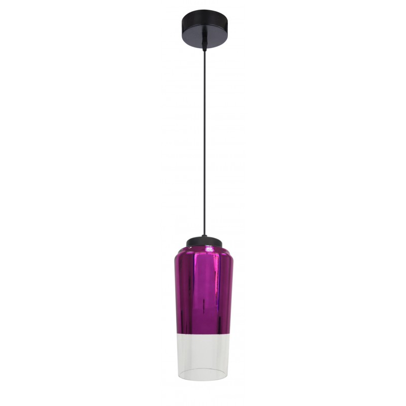 Lampy-sufitowe - wisząca lampa szklana fioletowo - czarna 13 1x60w e27 tube 31-51288 candellux firmy Candellux