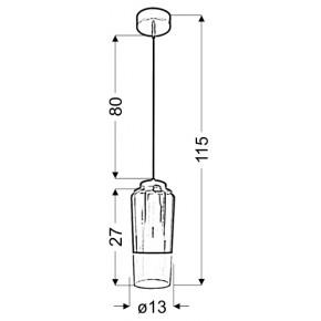 Lampy-sufitowe - wisząca lampa szklana fioletowo - czarna 13 1x60w e27 tube 31-51288 candellux