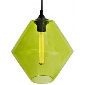 BREMEN LAMPA WISZĄCA 20 1X60W E27 KLOSZ ZIELONY + ŻARÓWKA