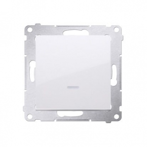 Biały włącznik jednobiegunowy z sygnalizacją załączenia LED DW1ZL.01/11 Simon 54 Kontakt-Simon