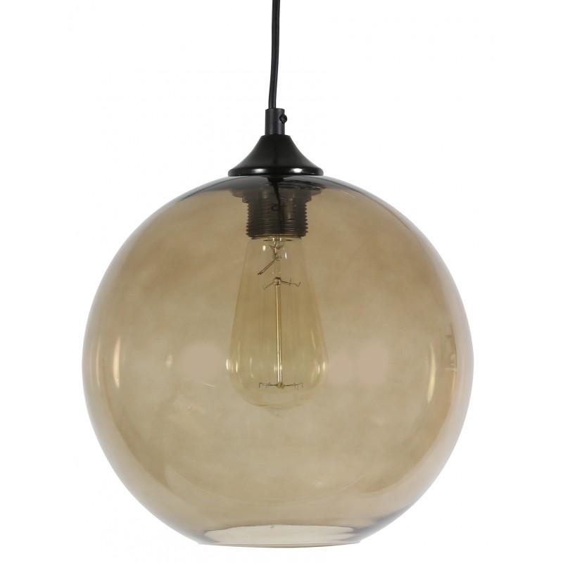 Lampy-sufitowe - szklana lampa sufitowa barwiona na brąz 25 1x60w e27 edison 31-28259 candellux firmy Candellux