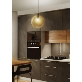 Lampy-sufitowe - szklana lampa sufitowa barwiona na brąz 25 1x60w e27 edison 31-28259 candellux