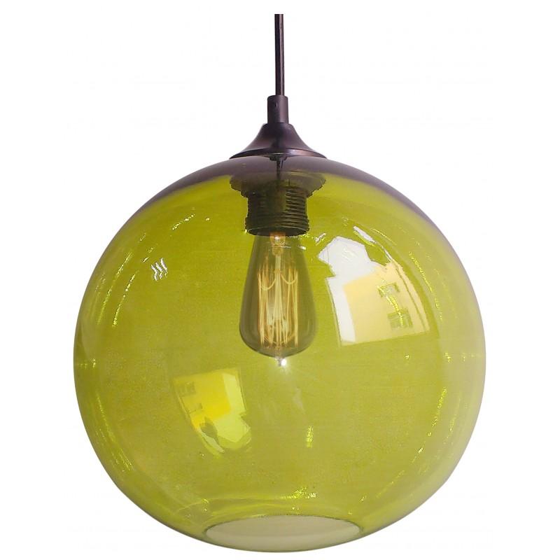 Lampy-sufitowe - zielona lampa sufitowa + żarówka typu edison e27 25 1x60w edison 31-29546 candellux firmy Candellux