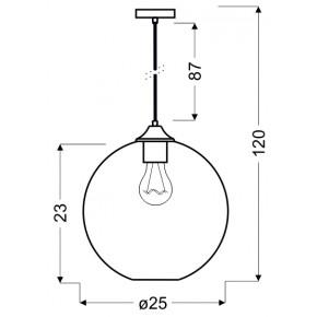 Lampy-sufitowe - zielona lampa sufitowa + żarówka typu edison e27 25 1x60w edison 31-29546 candellux