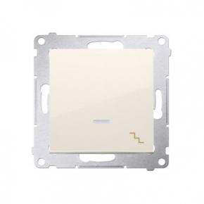 Włącznik schodowy z podświetleniem LED kremowy DW6L.01/41 Simon 54 Kontakt-Simon