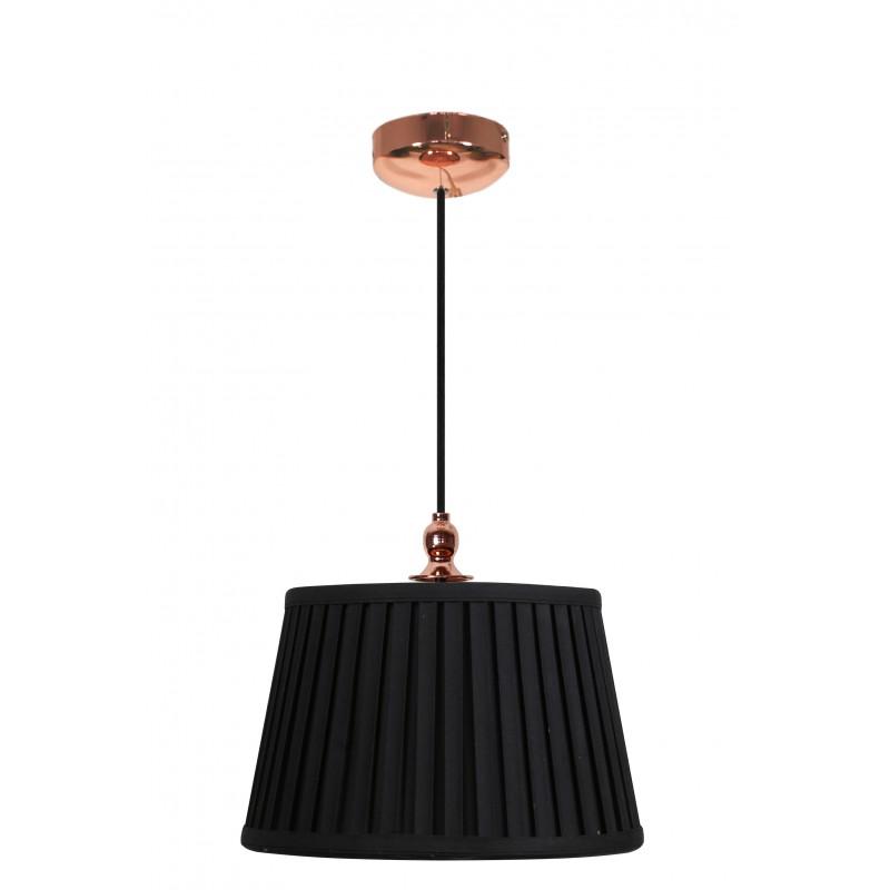 Lampy-sufitowe - lampa wisząca sufitowa z plisowanym kloszem czarna e27 60w amore 31-39378 candellux firmy Candellux