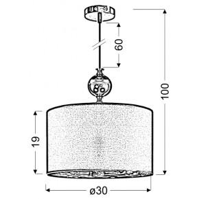 Lampy-sufitowe - lampa wisząca ze stali o tkaninowym kloszu 1x60w e27 melba 31-39385 candellux