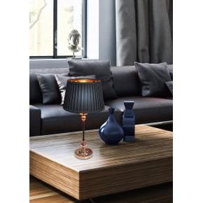 Lampki-nocne - lampa na stolik nocny czarna z miedzianym wnętrzem stożek e27 60w amore 41-38777 candellux