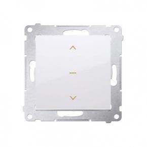 Biały włącznik żaluzjowy pojedynczy trój-pozycyjny (1-0-2) DZW1K.01/11 Simon 54 Kontakt-Simon