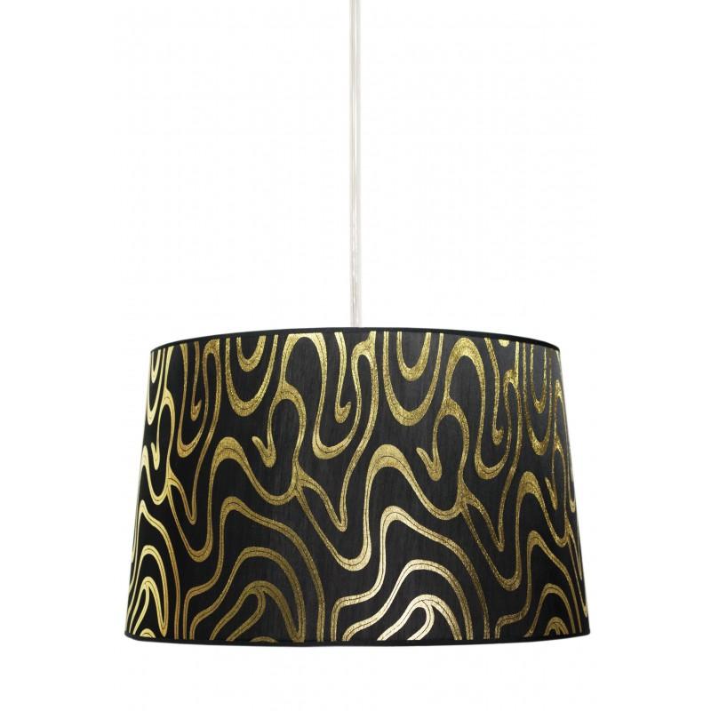 Lampy-sufitowe - czarno - złota lampa wisząca 40 1x60w e27 tiger 31-94455 candellux firmy Candellux