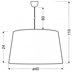 Lampy-sufitowe - czarno - złota lampa wisząca 40 1x60w e27 tiger 31-94455 candellux