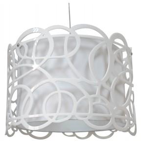 Lampy-sufitowe - lampa wisząca biała o oryginalnym abażurze 1x60w e27 imagine 31-21472 candellux