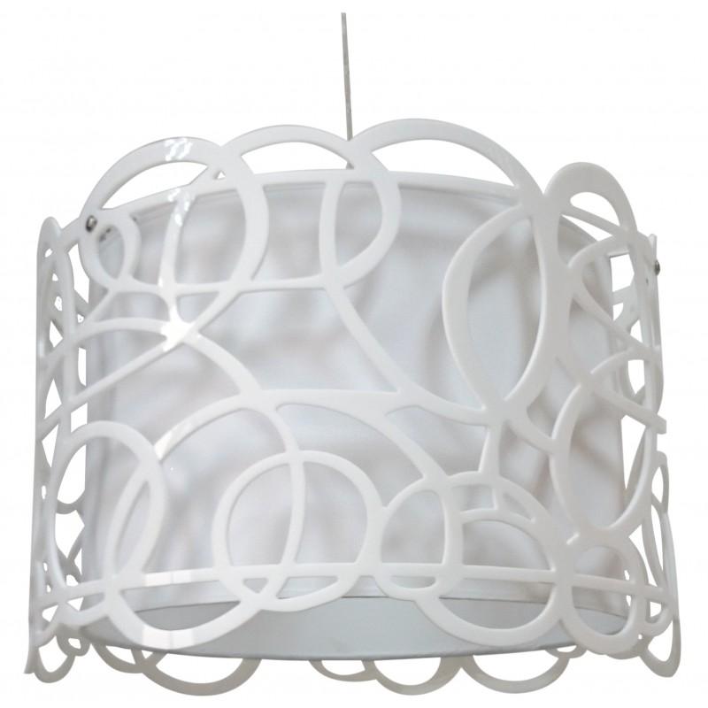 Lampy-sufitowe - lampa wisząca biała o oryginalnym abażurze 1x60w e27 imagine 31-21472 candellux firmy Candellux