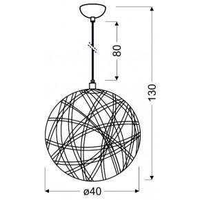 Lampy-sufitowe - lampa kula biała o średnicy 40 cm frida 31-51127 candellux