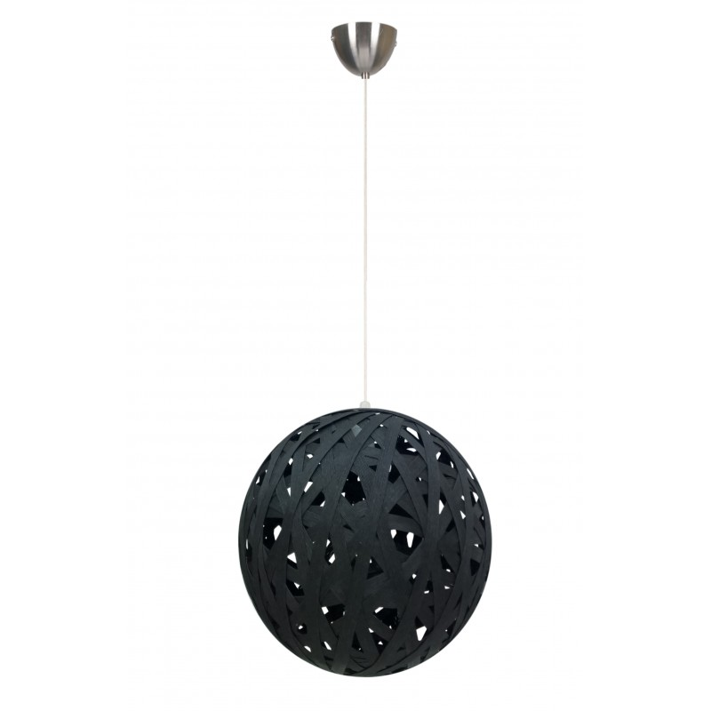 Lampy-sufitowe - lampa sufitowa ażurowa kula czarna frida 31-51134 candellux firmy Candellux