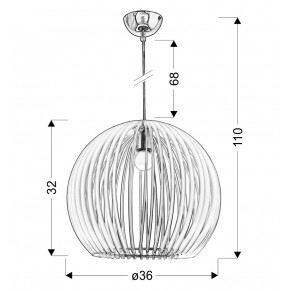 Lampy-sufitowe - oświetlenie wiszące w oryginalnym niebieskim kolorze 1x60w e27 haga 31-50345 candellux