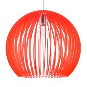 Lampy-sufitowe - czerwona lampa wisząca z akrylu 1x60w e27 haga 31-50413 candellux