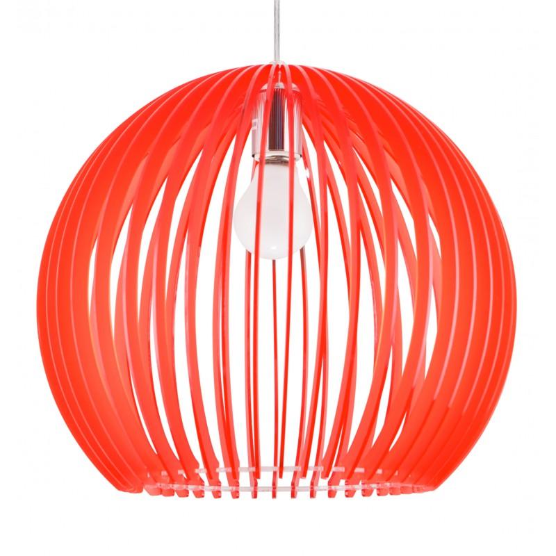 Lampy-sufitowe - czerwona lampa wisząca z akrylu 1x60w e27 haga 31-50413 candellux firmy Candellux
