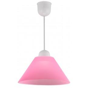 Lampy-sufitowe - klasyczna lampa wisząca biało-różowa e27 1x60w fama 31-20157 candellux
