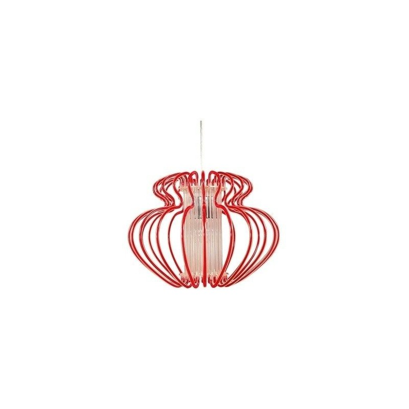 Lampy-sufitowe - oryginalna lampa wisząca czerwona 1x60w e27 imperia 31-36608 candellux firmy Candellux