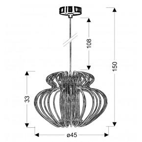 Lampy-sufitowe - oryginalna lampa wisząca czerwona 1x60w e27 imperia 31-36608 candellux