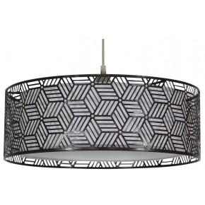 Lampy-sufitowe - brązowe oświetlenie wiszące o podwójny kloszu 1x60w e27 brown 31-58836 candellux