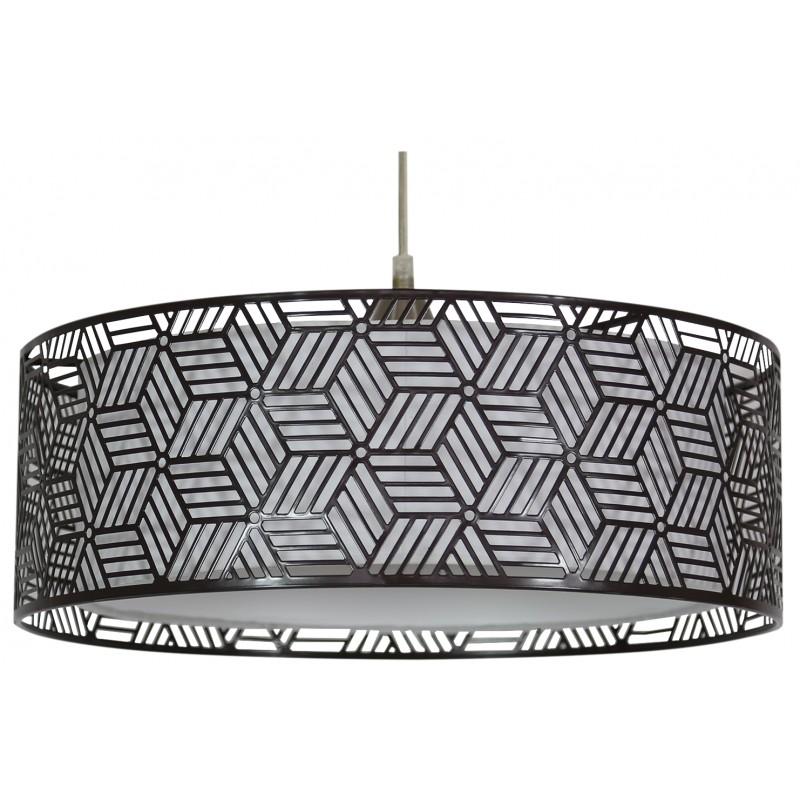 Lampy-sufitowe - brązowe oświetlenie wiszące o podwójny kloszu 1x60w e27 brown 31-58836 candellux firmy Candellux