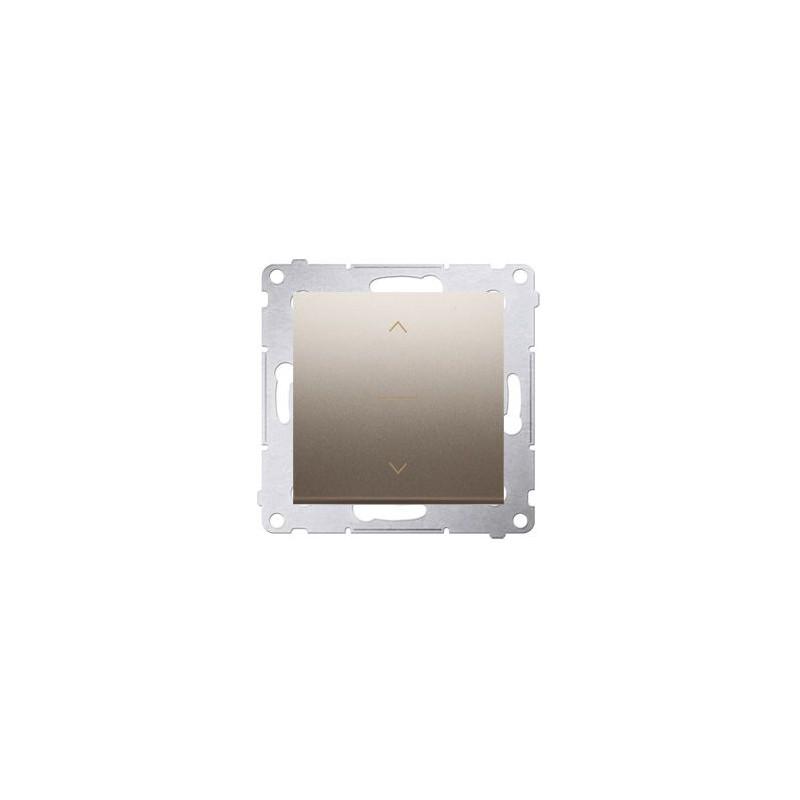 Wylaczniki-zaluzjowe - włącznik żaluzjowy pojedynczy trój-pozycyjny (1-0-2) złoty mat dzw1k.01/44 simon 54 kontakt-simon firmy Kontakt-Simon
