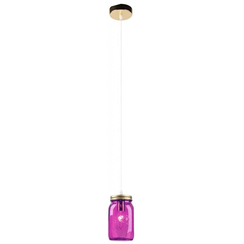 Lampy-sufitowe - fioletowa lampa wisząca - szklana 10 1x40w e14 jars 31-42958 candellux firmy Candellux