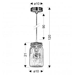 Lampy-sufitowe - fioletowa lampa wisząca - szklana 10 1x40w e14 jars 31-42958 candellux