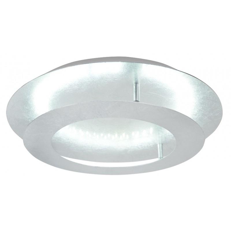 Plafony - lampa sufitowa srebrna z wbudowanym źródłem światła 24w led 3000k merle 98-66206 candellux firmy Candellux