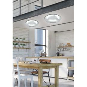 Plafony - lampa sufitowa srebrna z wbudowanym źródłem światła 24w led 3000k merle 98-66206 candellux