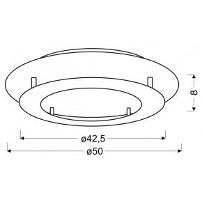 Plafony - biały plafon o dwupoziomowej konstrukcji 50 24w led 3000k merle 98-66220 candellux