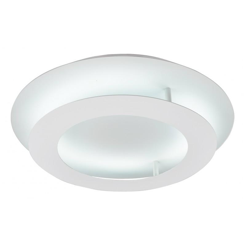 Plafony - biały plafon okrągły - dwupoziomowy 18w led 3000k merle 98-66183 candellux firmy Candellux