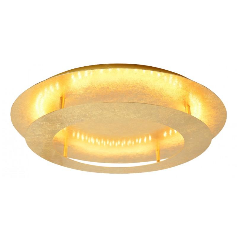 Plafony - plafon złoty o dwupoziomowej konstrukcji 18w led 3000k merle 98-66213 candellux firmy Candellux