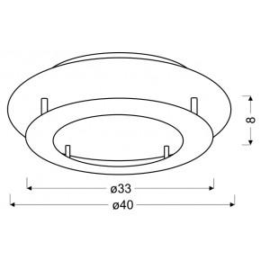 Plafony - plafon złoty o dwupoziomowej konstrukcji 18w led 3000k merle 98-66213 candellux