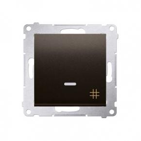 Włącznik krzyżowy z podświetleniem LED brąz mat DW7L.01/46 Simon 54 Kontakt-Simon