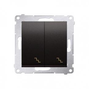 Włącznik schodowy podwójny z podświetleniem LED antracyt DW6/2L.01/48 Simon 54 Kontakt-Simon