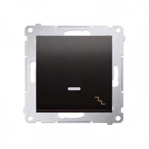 Włącznik schodowy z podświetleniem LED antracyt DW6L.01/48 Simon 54 Kontakt-Simon