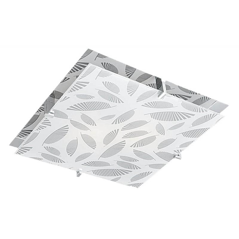 Plafony - chromowy plafon w oryginalne wzory 2x60w e27 fikus 10-12821 candellux firmy Candellux