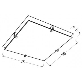 Plafony - chromowy plafon w oryginalne wzory 2x60w e27 fikus 10-12821 candellux