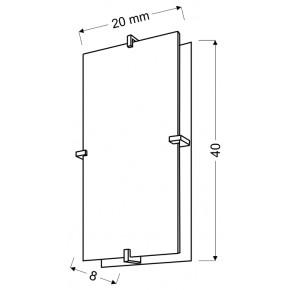 Plafony - prostokątny plafon o podwójnej konstrukcji 40x20 2x60w e27 fikus