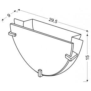 Lampy-sufitowe - plafon chromowy w oryginalne wzory 0,5 1x60w e27 fikus 11-12937 candellux
