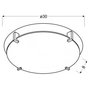 Plafony - podwójny plafon w oryginalne wzory 30 1x60w e27 fikus 13-12944 candellux