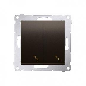 Włącznik schodowy podwójny z podświetleniem LED brąz mat DW6/2L.01/46 Simon 54 Kontakt-Simon