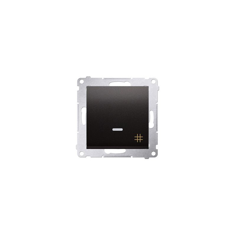 Włącznik krzyżowy z podświetleniem LED antracyt DW7L.01/48 Simon 54 Kontakt-Simon
