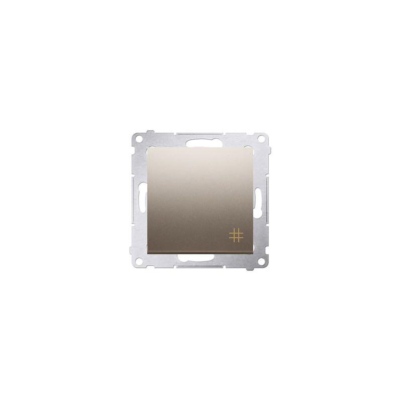 Włącznik krzyżowy złoty mat DW7.01/44 Simon 54 Kontakt-Simon