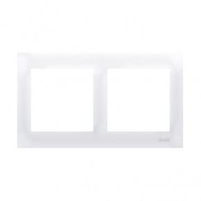 Biała ramka podwójna do puszek karton-gips DRK2/11 Simon 54 Premium Kontakt-Simon