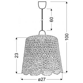 Lampy-sufitowe - lampa wisząca w stylu folkowym 27 1x60w e27 nonna 31-38494 candellux