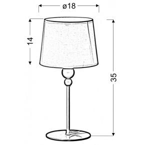 Lampki-nocne - lampka nocna biało różowa 1x60 w e27 bebe 41-38968 candellux